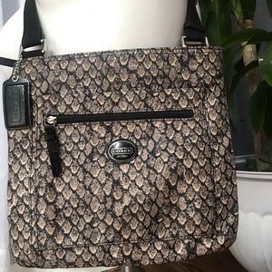 Coach Bags - Excellent COACH Snakeskin Print Crossbody Bag